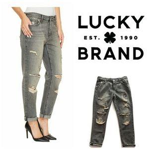 Lucky Brand Sienna Boyfriend Jeans in Barry (Gray)